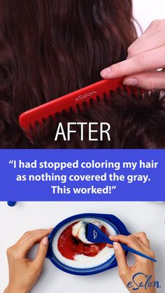 Ditch the generic drugstore box and try this new DIY hair color: It was the exact hair color I was looking for but could not find. That in between color that you just can't get from store bought colors.The first and only of its kind, our customized h Curly Hair Styles, Natural Hair Styles, Diy Haarfärbemittel, Diy Crafts, Diy Hair Dye, Hair Colour Design, Diy Hair Colour, At Home Hair Color, Tips Belleza
