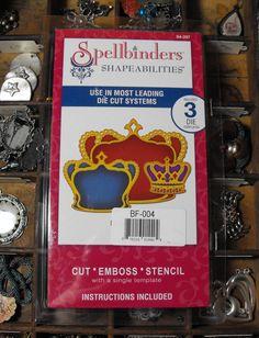Spellbinders Shapeabilities Crowns Nestled Die by ThePaperPeddler, $7.00