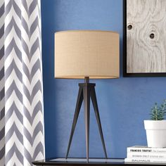 Shop Langley Street™ at Wayfair for a vast selection and the best prices online. Enjoy Free and Fast Shipping on most stuff, even big stuff! Tripod Table Lamp, Table Lamp Base, Table Lamp Sets, Lamp Bases, Desk Lamp, A Table, Contemporary Table Lamps, Modern Rustic Interiors, Drum Shade