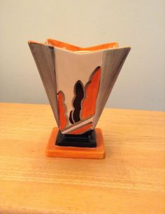 Myott Art Deco Square Vase   Pattern # 9185