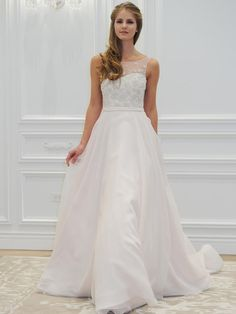 Anne Barge wedding dress with illusion neckline from Spring 2016