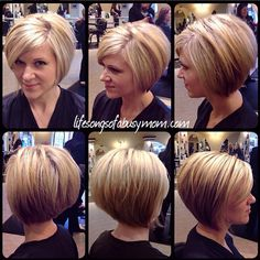wanna give your hair a new look? Inverted bob hairstyles is a good choice for you. Here you will find some super sexy Inverted bob hairstyles, Find the best one for you, Bob Haircuts For Women, Short Hair Cuts For Women, Short Hair Styles Thin, Short Bob Haircuts, Red Hair Looks, Inverted Bob Hairstyles, Stacked Bob Hairstyles, Short Hairstyles, Celebrity Hairstyles