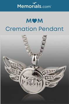 The perfect idea, personalized cremation jewelry to carry moms cremation ashes with you on a beautiful necklace.