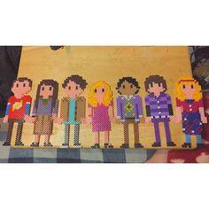 The Big Bang Theory perler beads by amandalee.xo