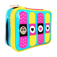 Miss Locker Cute Makeup Bag Cosmetic Organizer Toiletry Pencil Pouch Women Back to School Teen Girl Train Case, Medium ** Wow! I love this. Check it out now! : Travel cosmetic bag