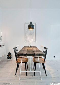 pinnstolar,återvunnet trä,matbord i trä,matplats,köksbord