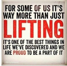 I lift. This is why.