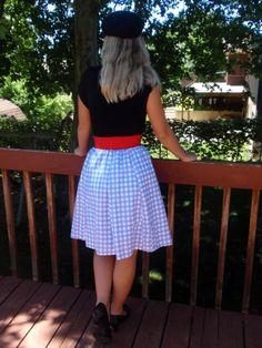 Cute skirt made from a mans dress shirt