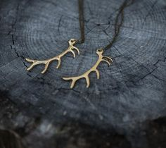 Elk Antler Necklace $28.00 Photography by @meganungerphotography This whimsical Antler necklace is inspired by the creative creatures of the forest. The intricate detailing of this piece is enough to catch the eye of other wild animal lovers. So be prepared to meet other freedom thinkers like you!  charm size: 60mm x 38mm chain length: 44cm material: brass