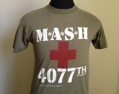 80s Vintage MASH 4077th tv TShirt  LARGE by PartyNaked on Etsy, $25.00