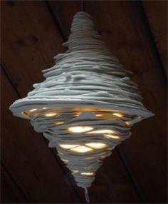 laagjes lamp porcelana ceramica porcelana modelado a mano,colage