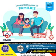 IISE Wishes: Happy International Family Day to you and your loved ones! I hope you are doing great. Wishing you a lot of love and happiness. Hold on to each other, because you will always have your family, even when the world is falling apart. IISE GROUP OF INSTITUTIONS Call Us: +91 7236002222, 9453350199 Website: www.iiseindia.com #thanksCovidwarriors #ADMISSIONOPEN #PGDM #MCA #BBA #BCA #BJMC #BCOM #MAMC #MABJ #BAMC #BSCMC #LucknowUniversity