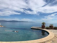 Hang out in the pool and watch the sunset over the Sea of Cortez Cool Pools, Lake Tahoe, Just Go, Hanging Out, Infinity Pools, Relax, Culture, Sunset, Watch