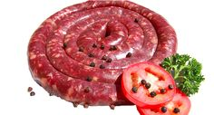 Pepper Boerewors - Buy good quality biltong online delivered to your door Biltong, Good Sources Of Protein, Sausage, Beef, Stuffed Peppers, Fresh, Food, Products, Good Protein Sources