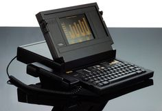 GRiD Compass laptop designed by Bill Moggridge in 1979 and initially marketed in 1982