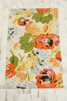 UrbanOutfitters.com > 3x5 Watercolor Flowers Printed Rug