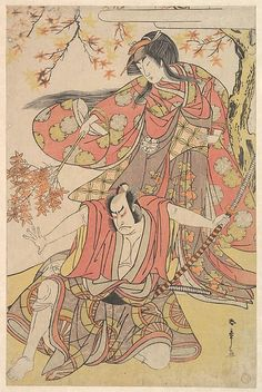 Katsukawa Shunshō (Japanese, 1726–1792). Segawa Kikunojo III as a Woman Standing under a Maple Tree in the Autumn, ca. 1778. The Metropolitan Museum of Art, New York. The Francis Lathrop Collection, Purchase, Frederick C. Hewitt Fund, 1911 (JP710)