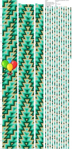 Рисуем схемы для жгутов из бисера, вышивки и др.'s Fotos Beaded Necklace Patterns, Crochet Beaded Bracelets, Bead Crochet Rope, Loom Patterns, Elsa, Beads, Jewelry, Colors, Marque Page