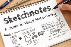 Sketchnotes: A Guide to Visual Note-Taking Visual Thinking, Design Thinking, Study Skills, Study Tips, Visual Note Taking, Bullet Journal, Jet Pens, Sketch Notes, Art Graphique