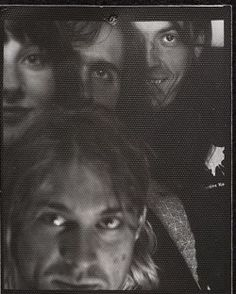 Rare recordsthe release ofNevermind,Nirvanaalbum.KurtCobain, DaveGrohl,KristNovoselicandex-wifeShellyHykas.