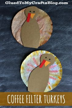 Coffee Filter Turkeys {Kid Craft}