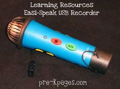 Easi-Speak USB recorder is Easy Peasy to use in the classroom! via www.pre-kpages.com