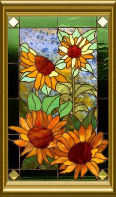 stained glass patterns | sunflower stained glass pattern - group picture, image by tag ...
