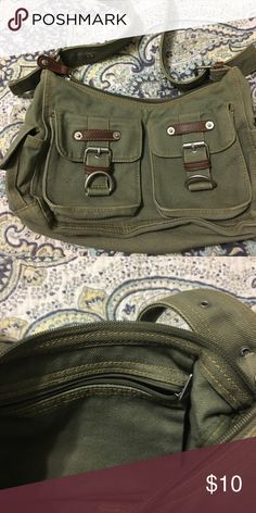 Olive Canada purse Olive canvas purse. Smoke free home. Bags Shoulder Bags
