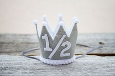 Boys 1/2 Birthday Mini Crown 1st Birthday Little Prince