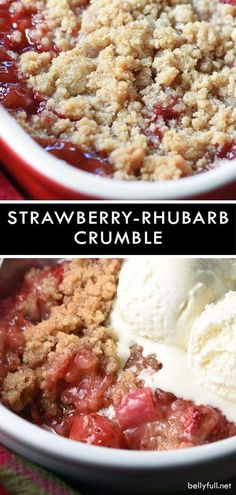With a streusel topping and luscious fruit this Strawberry Rhubarb Crumble could not be easier or more perfect for a simple on-the-fly dessert. The post Strawberry Rhubarb Crumble appeared first on Win Dessert. Strawberry Rhubarb Recipes, Fruit Recipes, Baking Recipes, Sweet Recipes, Dessert Recipes, Strawberry Rhubarb Crisp, Strawberry Rhubarb Cobbler, Rhubarb Pie, Rhubarb Crisp Recipe