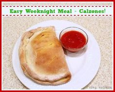 EASY weeknight meal - Calzones!  A yummy crowd pleaser!