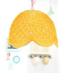 crochet lamp shade  Mustard by babytogo on Etsy, $90.00