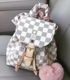 LV Women Leather Shoulder Bag Tote Handbag For 2019 Women Style Designer Backpack Purse, Designer Backpacks, Designer Bags, Backpack Bags, Louis Vuitton Backpack, Vuitton Bag, Louis Vuitton Handbags, Luxury Purses, Luxury Bags