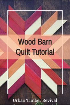 """This wood Barn Quilt was such a breeze to make, anybody can do it! I teach the basics on how to make a basic wood barn quilt in my new Skillshare class. This example was made specifically for fall, but as you will see in my class you can just """"change up"""" the colors to fit any season. Enjoy! Fall Crafts, Halloween Crafts, Home Crafts, Christmas Crafts, Diy Crafts, Cool Woodworking Projects, Diy Projects, Quilt Patterns, Sewing Patterns"""