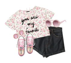 """""""Summer Love 9"""" by nenedopesauce ❤ liked on Polyvore featuring Forever 21, Converse, Ted Baker and Lipsy"""