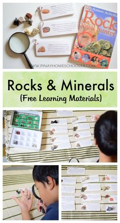 Teaching Science Rocks And Minerals - Rocks and Minerals Learning Activities for Kids (with Free Cards) Rock Science, 4th Grade Science, Preschool Science, Kids Learning Activities, Middle School Science, Elementary Science, Science Experiments Kids, Science Classroom, Teaching Science