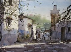 Watercolor Canvas, Watercolor Drawing, Watercolor Artists, Watercolor Landscape, Landscape Art, Painting & Drawing, Watercolor Paintings, Watercolors, Landscape Paintings