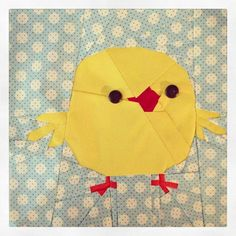 Free Chick quilt block pattern  by trilliumdesign