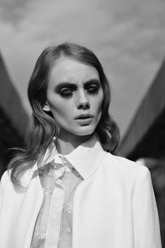 These Intense Monochrome Photos Emphasize Ghoul-Like Beauty #gothic #fashion trendhunter.com