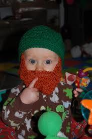 Cute St. Patricks Day baby hat/beard!