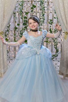 Click here to shop Cinderella Disney Inspired Princess Gown Tutu Costume Dress by Ella Dynae, $270.00