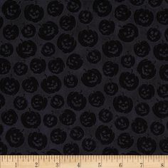 Witches Brew Ha Ha Pumpkin Tonal Black from @fabricdotcom  Designed by Collier-Morales Studio for Quilting Treasures, this cotton print is perfect for quilting, apparel and home decor accents.  Colors include shades of black.
