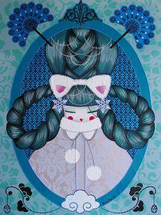 Koralie Winter/Russia Graffiti, Plant Wall, Illustrations, Pattern Illustration, Graphic Patterns, Land Art, French Artists, Street Artists, Japanese Art