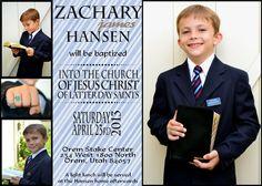 5 X 7 Baptism Invitation Boy Instant Download by CustomCardsbyAnne, $12.00