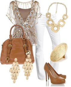 This nice outfit goes perfectly with the bag that The heels ,the necklace, the ring, and  the  earrings.