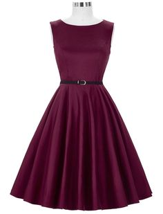 Audrey Hepburn 50s Retro Style My Sugar Plum Vintage Inspired Swing Dress