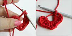 How to make a crochet heart. Best tutorial I've seen!