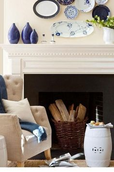 Are you considering decorating your fireplace mantel? A mixture of big and small pieces on your fireplace mantel creates a nice balance visually and will keep the mantel looking deliberate, not cluttered. Keep reading as we share 10 ideas for how to decorate your fireplace mantel like a pro. Hadley Court Interior Design Blog by Central Texas Interior Designer, Leslie Hendrix Wood
