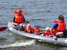 Kano langs het Limfjord
