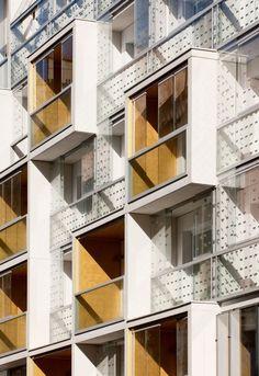 Plein Soleil Apartments, Paris, France by rh+ architecture